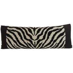 Vintage Black and White Zebra Pattern Decorative Bolster Pillow