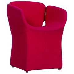 Moroso Bloomy Designer Chair in High Quality Red Fabric by Patricia Urquiola