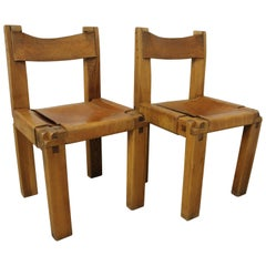 Pair of S11 Chairs by Pierre Chapo