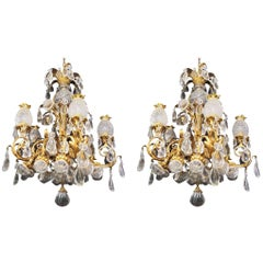Early 20th Century Antique Crystal Baccarat Chandelier
