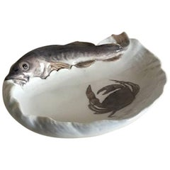 Royal Copenhagen Art Nouveau Bowl or Dish with a Cod #480