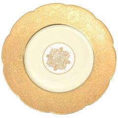 12 Elegant Presentation Plates, Antique with Center Medallion