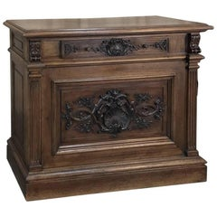 19th Century French Walnut Louis XIV Low Buffet or Cabinet
