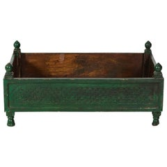 Green Painted Wood Box