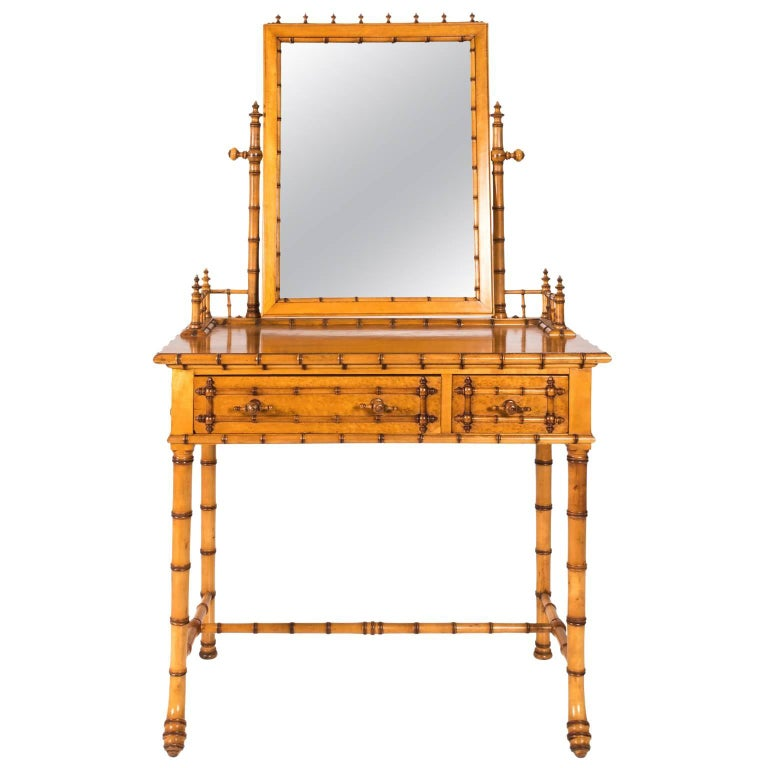 Faux Bamboo Vanity