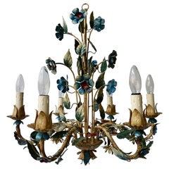 Italian Metal Flower Chandelier