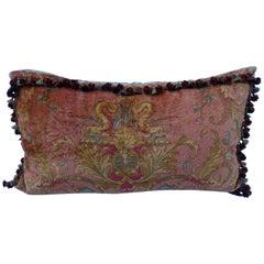 Custom Vintage Mohair Velvet Bed Pillow by Melissa Levinson