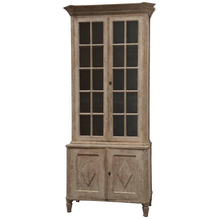 Pair of Very Tall Gustavian Vitrines