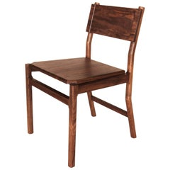Black Walnut Hewitt Wood Dining Chair by New York Heartwoods