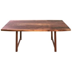 Highland Black Walnut Mid-Century Style Coffee Table by New York Heartwoods