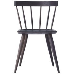 Handcrafted White Oak Wood Edwin Chair Minimalist Design by Peter Coolican