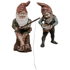 19th Century Pair of Terra Cotta Gnomes