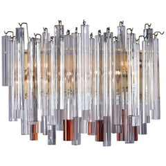 20th Century Triedre Wall Sconce by Maison Venini
