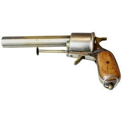 Antique Pipe in Pistol Form Case, Vesta Revolver, circa 1890, French