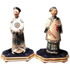 Pair of Early 19th Century Chinese Nodding Figures