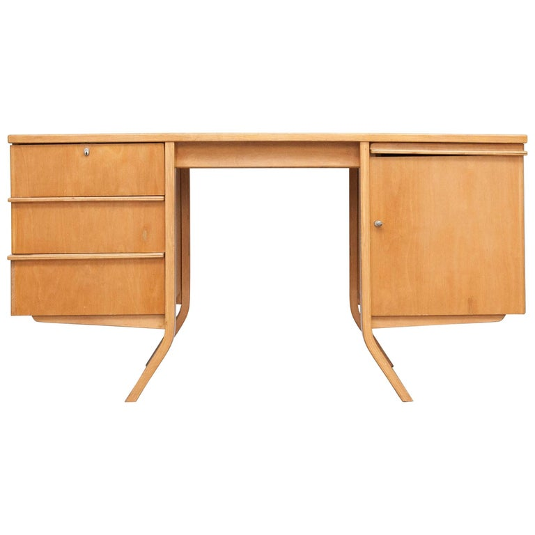 Cees Braakman EB04 Birch Desk, circa 1950 For Sale
