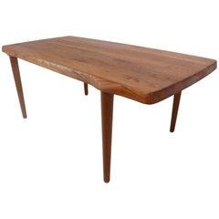 John Bone for Dansmark, Beautiful Solid Teak Coffee Table, circa 1960s