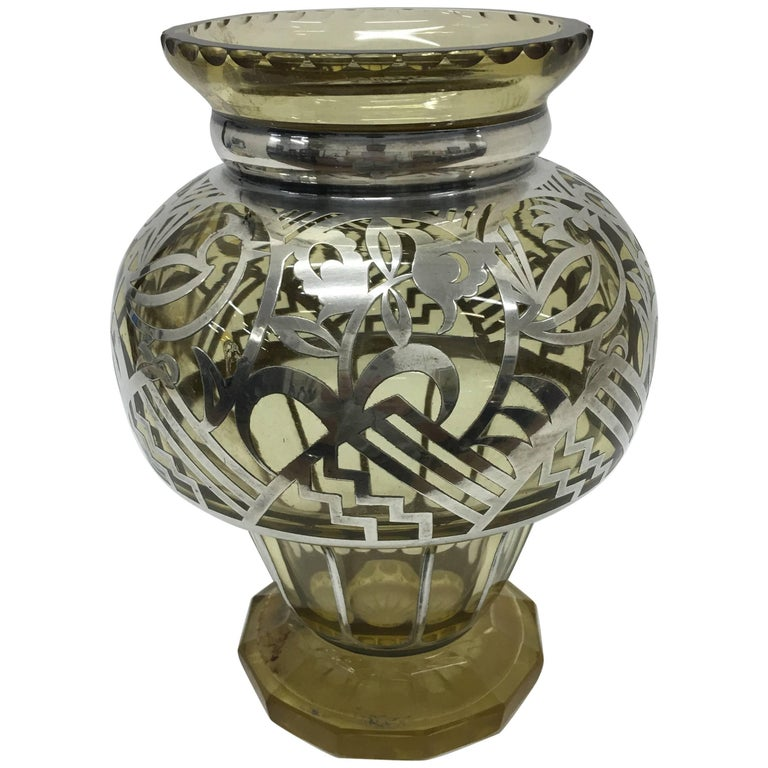 Silver And Glass Heron Vase For Sale At 1stdibs