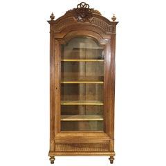 1900s Louis XVI Style Walnut Bookcase