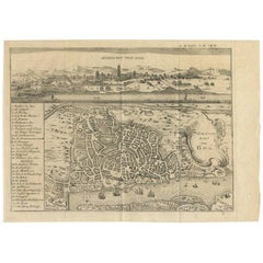 Antique Map of Goa 'India' by J.N. Bellin, 1760