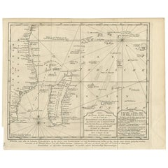 Antique Map of the Coast of Zanguebar and Madagascar 'Africa' by J. van Schley