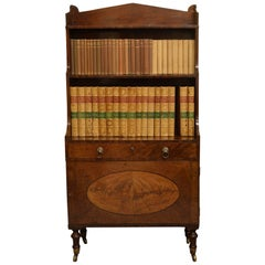 George III Sheraton Period Mahogany Waterfall Bookcase