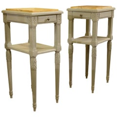 Pair of French Louis XVI Style Painted Nightstands