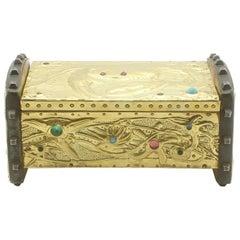 Alfred-louis-achille Daguet Art Nouveau Crab Box,circa 1900