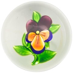 Saint Louis Pansy Paperweight