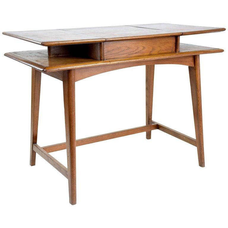 French Midcentury Flip Top Desk, 1950-1960