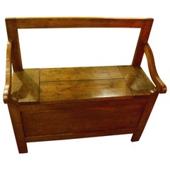 French Chestnut Bench with Lifting Seat