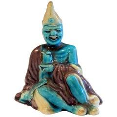 Old or Antique Chinese Porcelain Buddha Nodder Bobblehead Spirit Naughty Figure