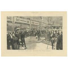 Antique Print of the Sydney International Exposition, 1879
