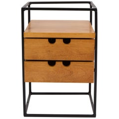Paul McCobb Mini Maple Drawer Unit on Iron Frame-Planner Group