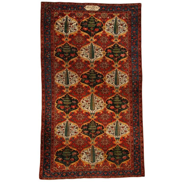 Antique Persian Bakhtiari Carpet