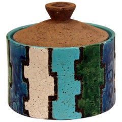 Bitossi Mondrian Vintage Italian Londi Pottery Ceramic Raymor Jar