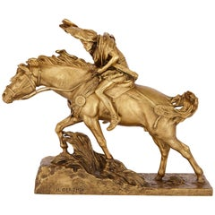 'Caesar Crossing the Rubicon', Gilt Bronze Group by Jean-Léon Gérôme