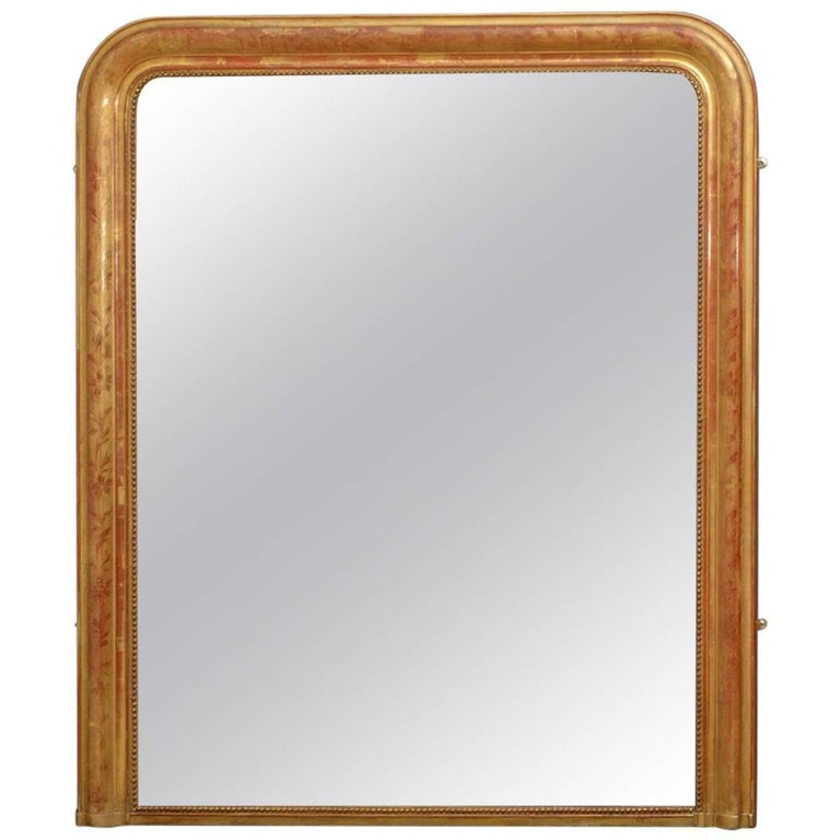 Exceptional 19th Century Wall Gilt Mirror For Sale
