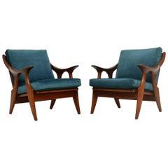 1960s Pair of Vintage Armchairs by De Ster Gelderland