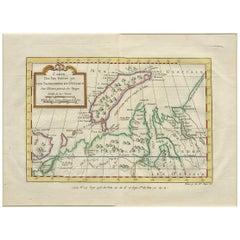 Antique Map of Nova Zembla 'Russia' by J.N. Bellin, 1757