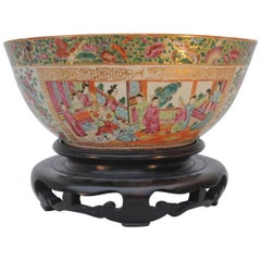 Large Chinese Canton Punch Bowl