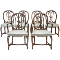 Axel-Einar Hjorth Set of Six Swedish Grace Chairs