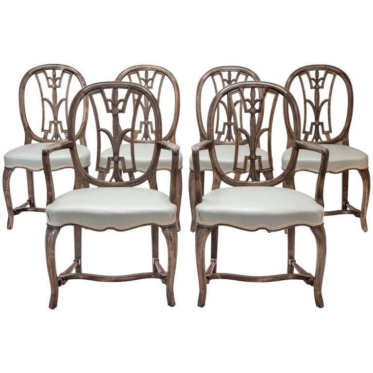 Axel-Einar Hjorth Set of Six Swedish Grace Chairs