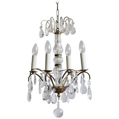 Early 20th Century Louis XIV Style Chandelier Dressed in Crystal Pear Drops