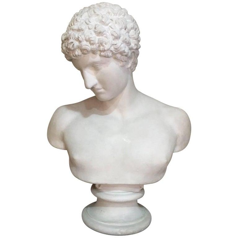 Men Plaster Bust Apollo, 1940s