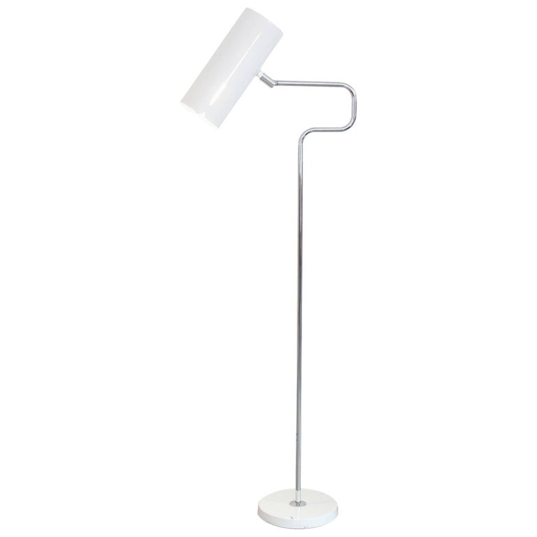 White Scandinavian Design Floor Lamp Produced by ASEA Bergboms, Sweden