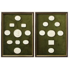 Pair of Framed Collection of Intaglios