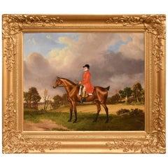 """Hunter in a Landscape"" Circle of Edwin Cooper"