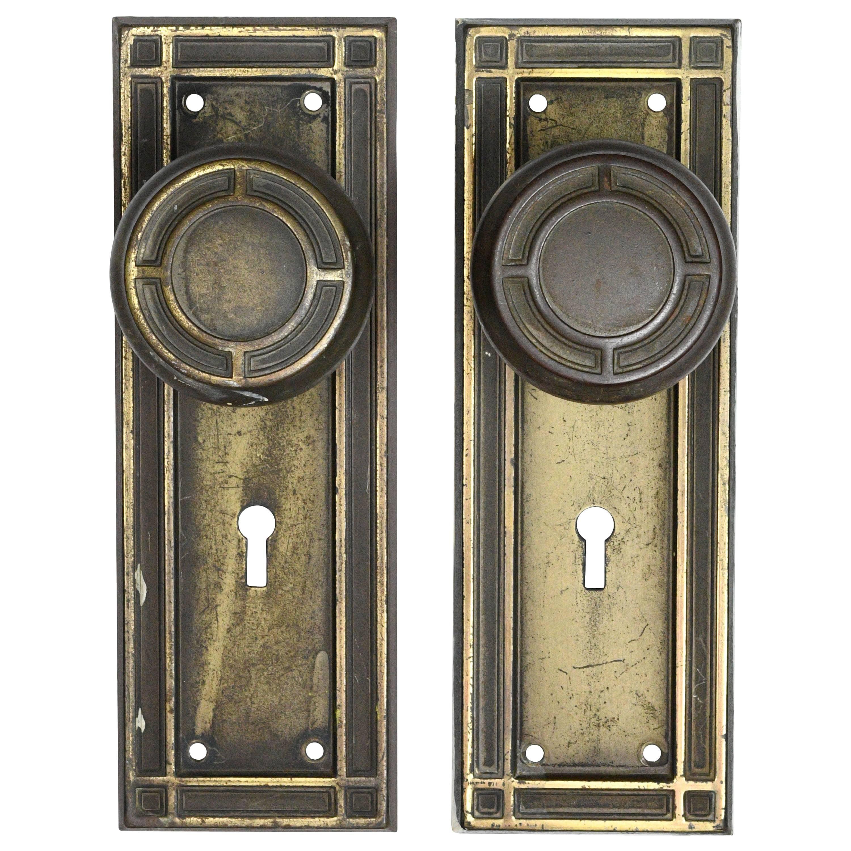 Craftsman Iron Door Hardware Set For Sale  sc 1 st  1stDibs & Craftsman Iron Door Hardware Set For Sale at 1stdibs