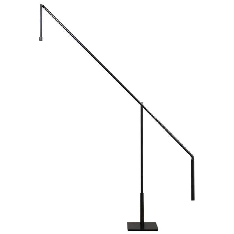 Floor Lamp in Darkened Brass with LED